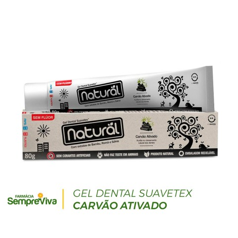 Gel Dental Suavetex Carvão Ativado