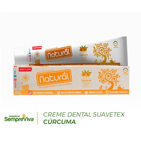 Creme Dental Suavetex Cúrcuma