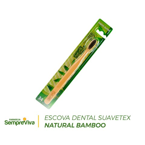 Escova Dental Suavetex Natural Bamboo 1un