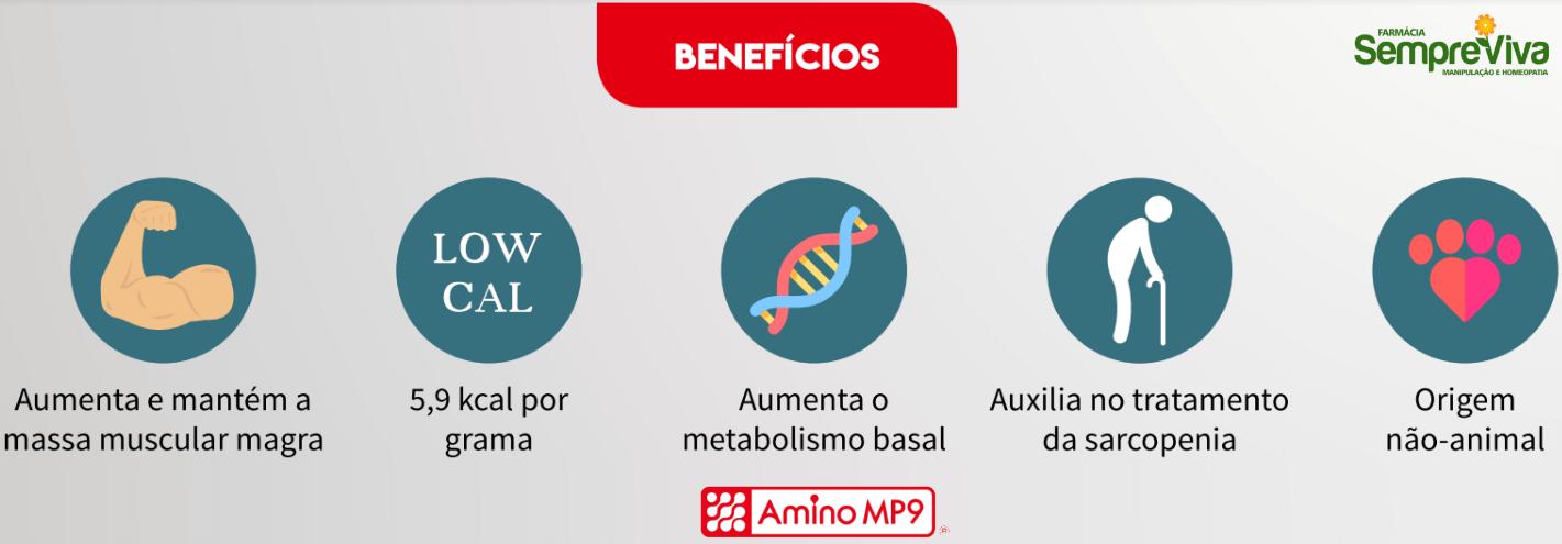 Amino MP9 benefícios